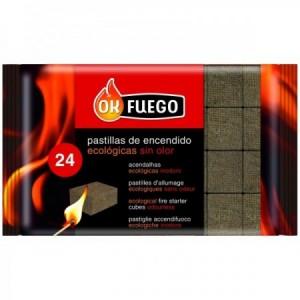 PASTILLAS DE ENCENDIDO ECOLOGICAS (SIN OLOR) 24UD OK FUEGO